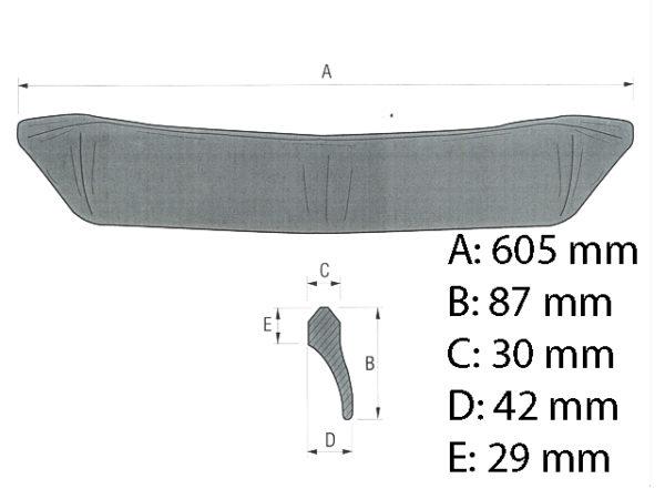 Seitenschneide 600 mm