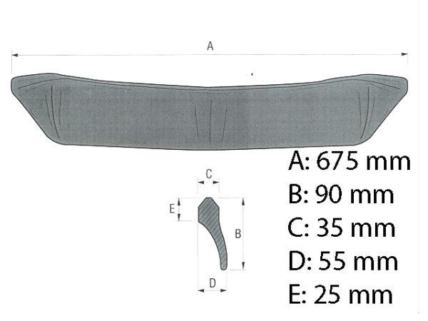 Seitenschneide 675 mm