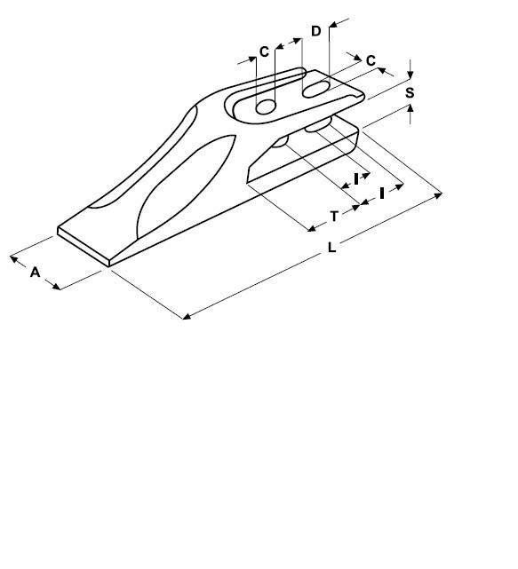 Gabelzahn Lochabstand 40 - 45 mm