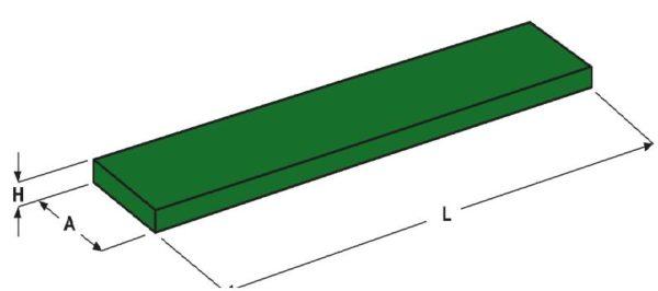 Verschleißstreifen 16x200 HB 500