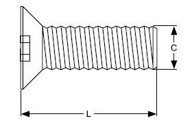 Senkkopfschraube M16x60