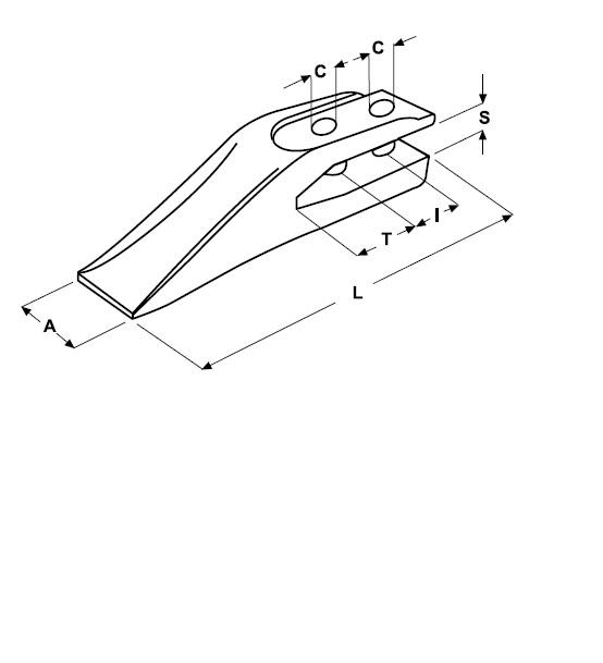 Gabelzahn Lochabstand 45 mm