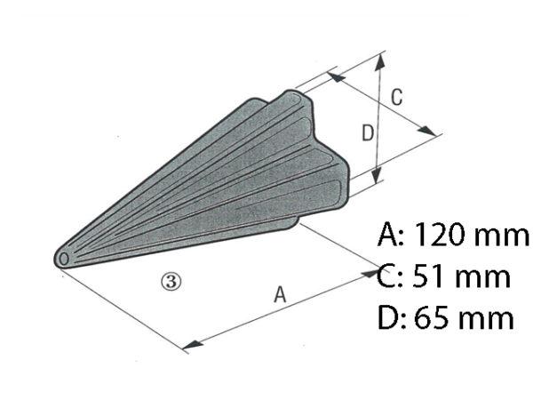 Anschweißspitze 51/55