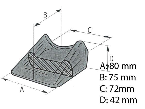 Anschweißspitze 72-42